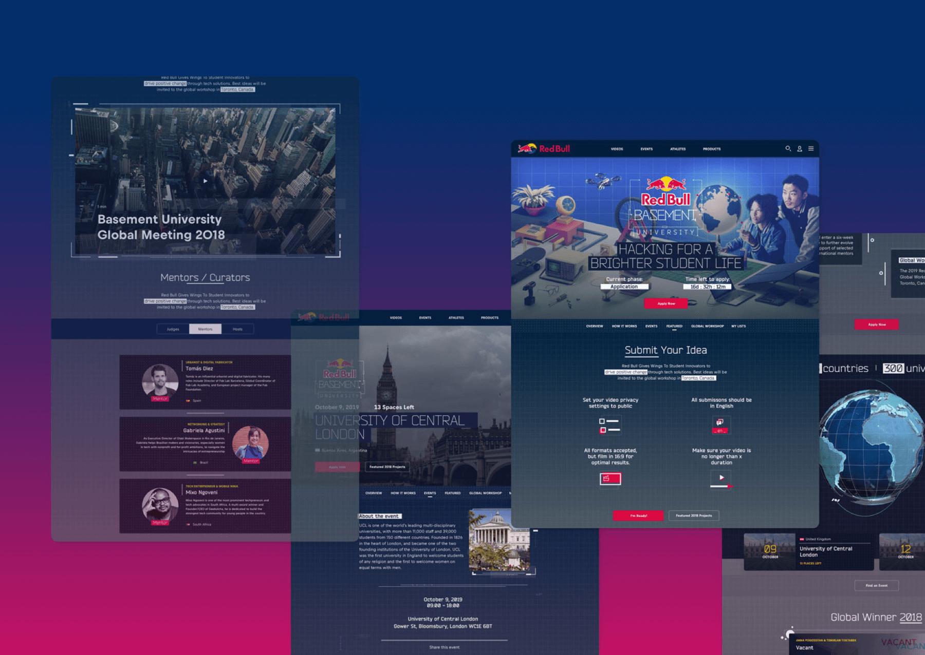 A Collection of desktop website designs