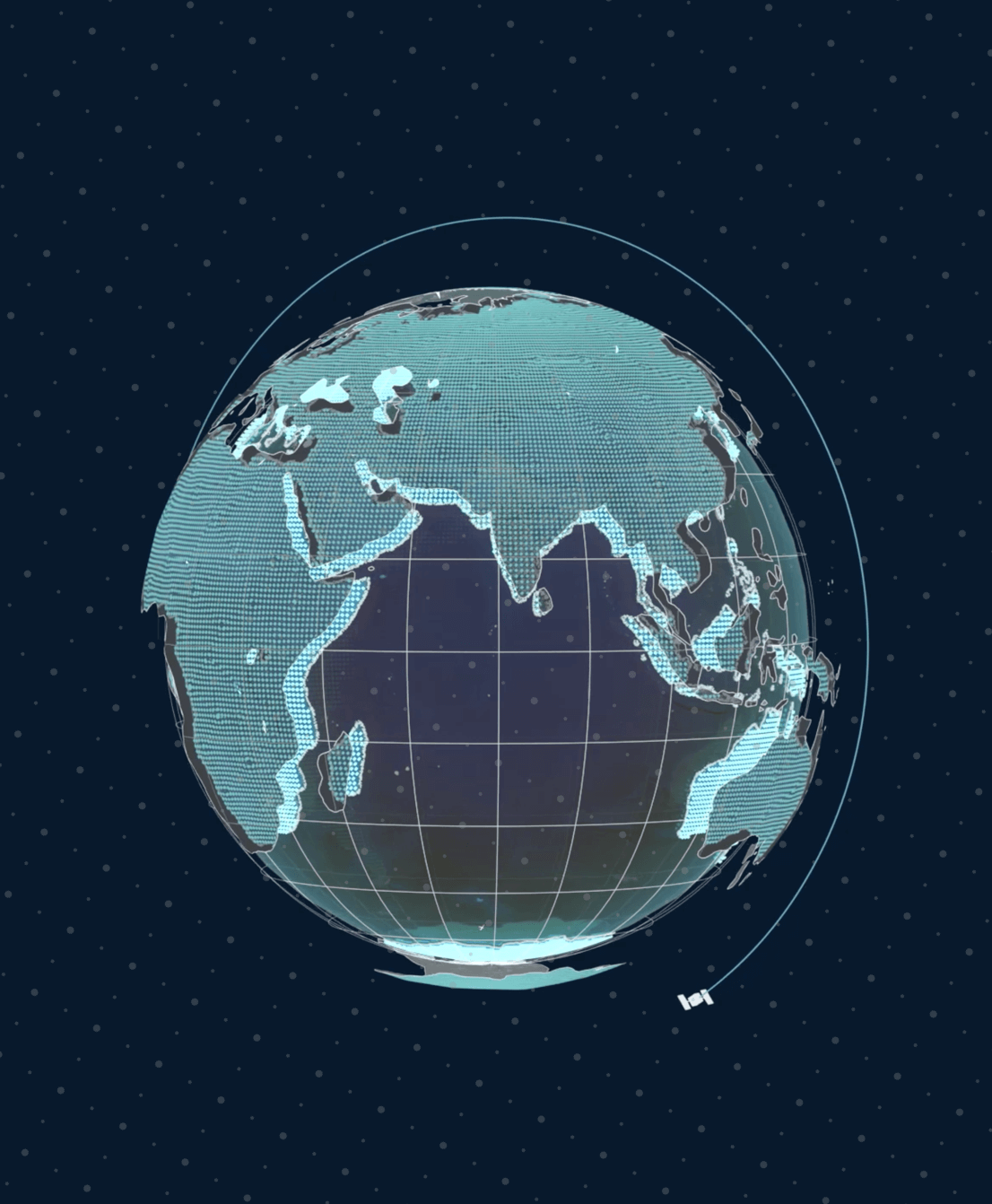 A 3D render of a globe used on the homepage