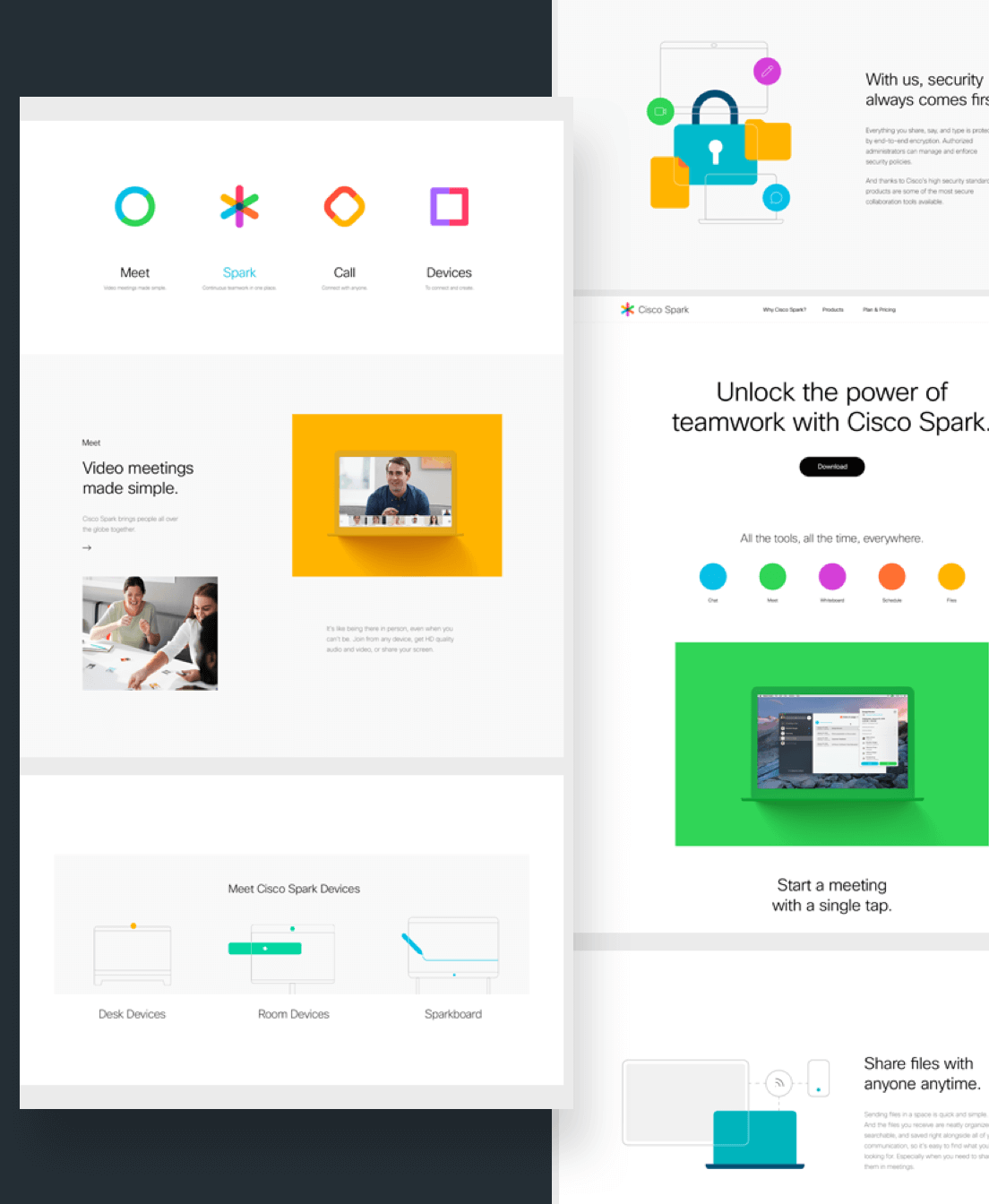 A collection of references of the Cisco Spark branding