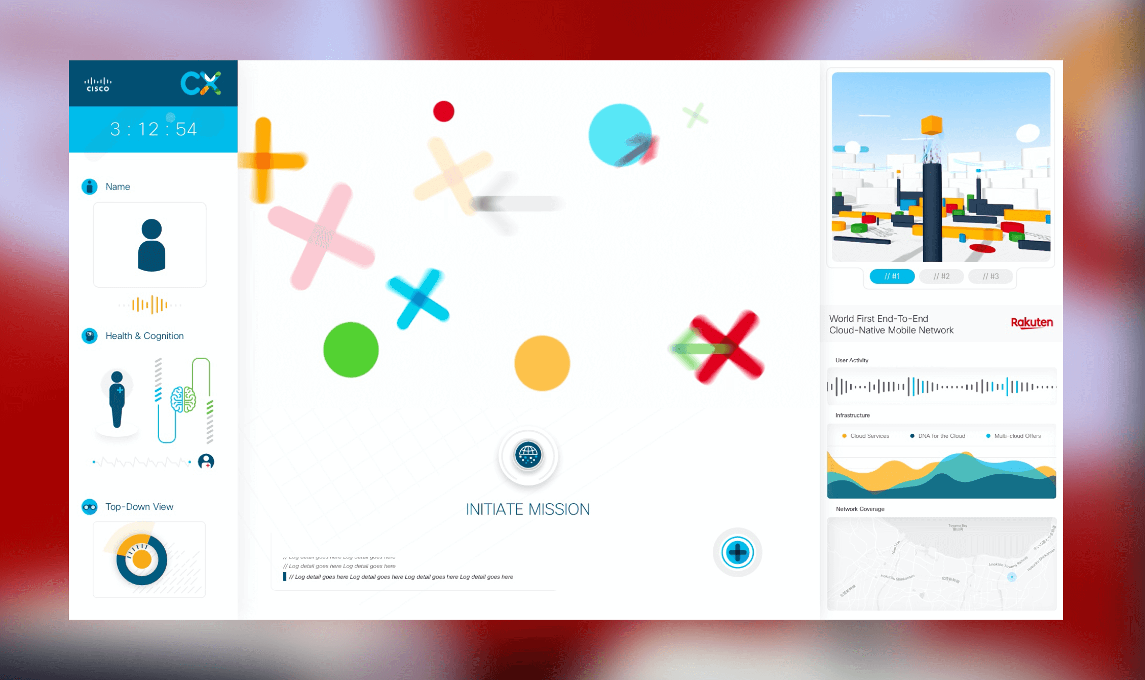 The design for the initialisation state for the CX expert dashboard