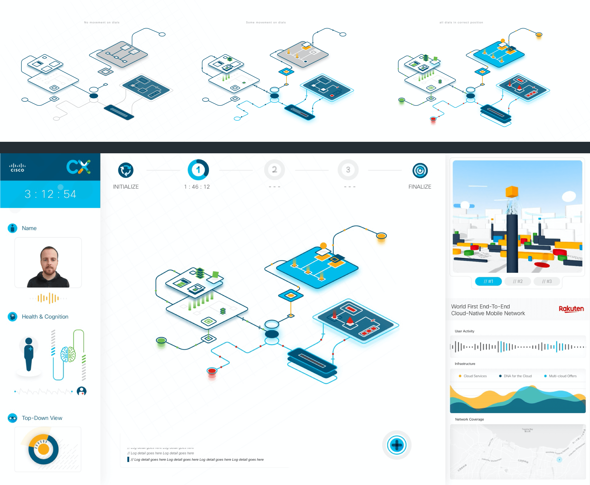 The game 1 UI for the CX Expert dashboard