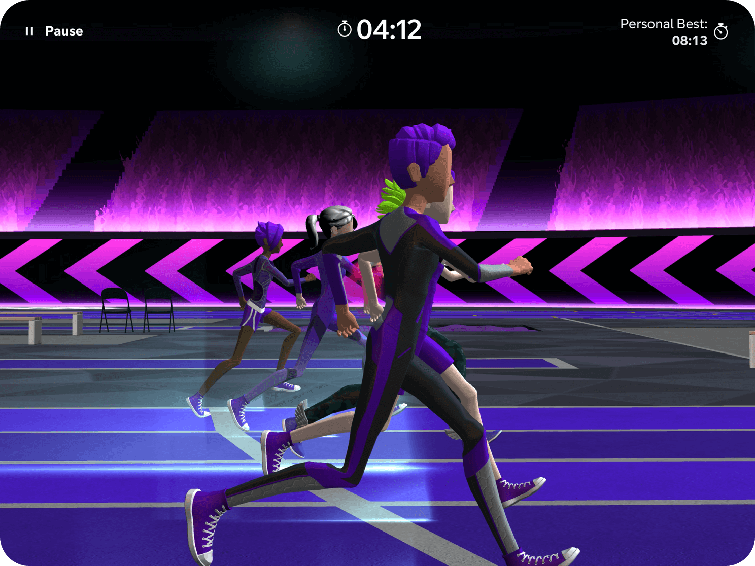 An in-game shot of the race screen