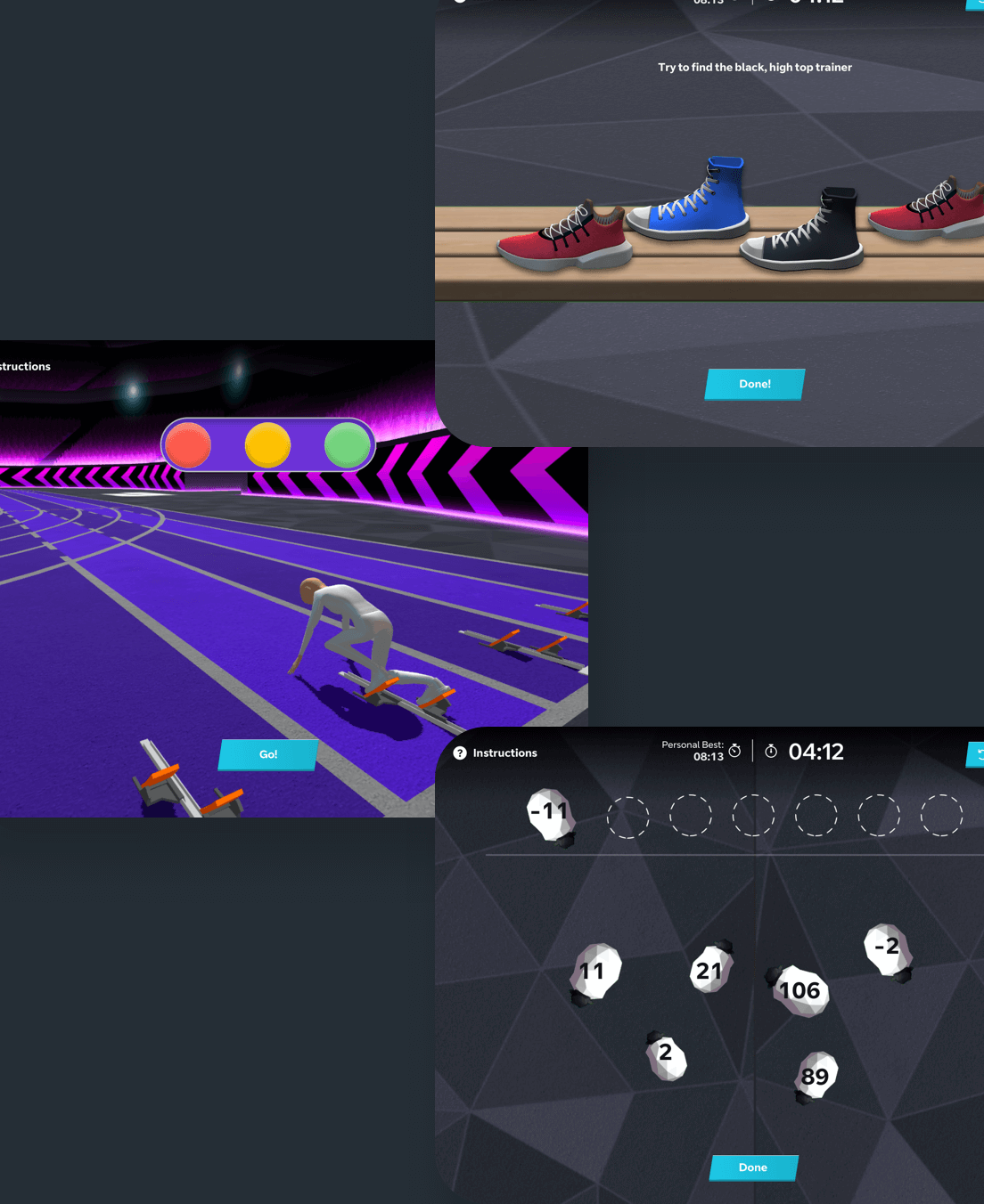 A collection of the mind training minigames