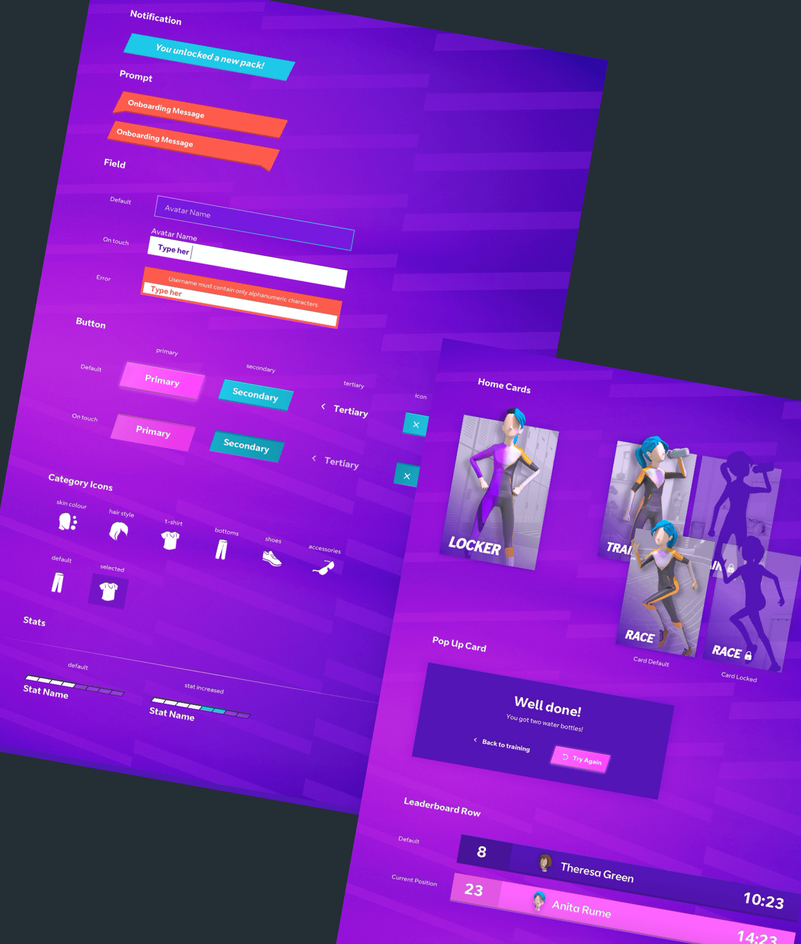A stylesheet for the various styles used throughout the app