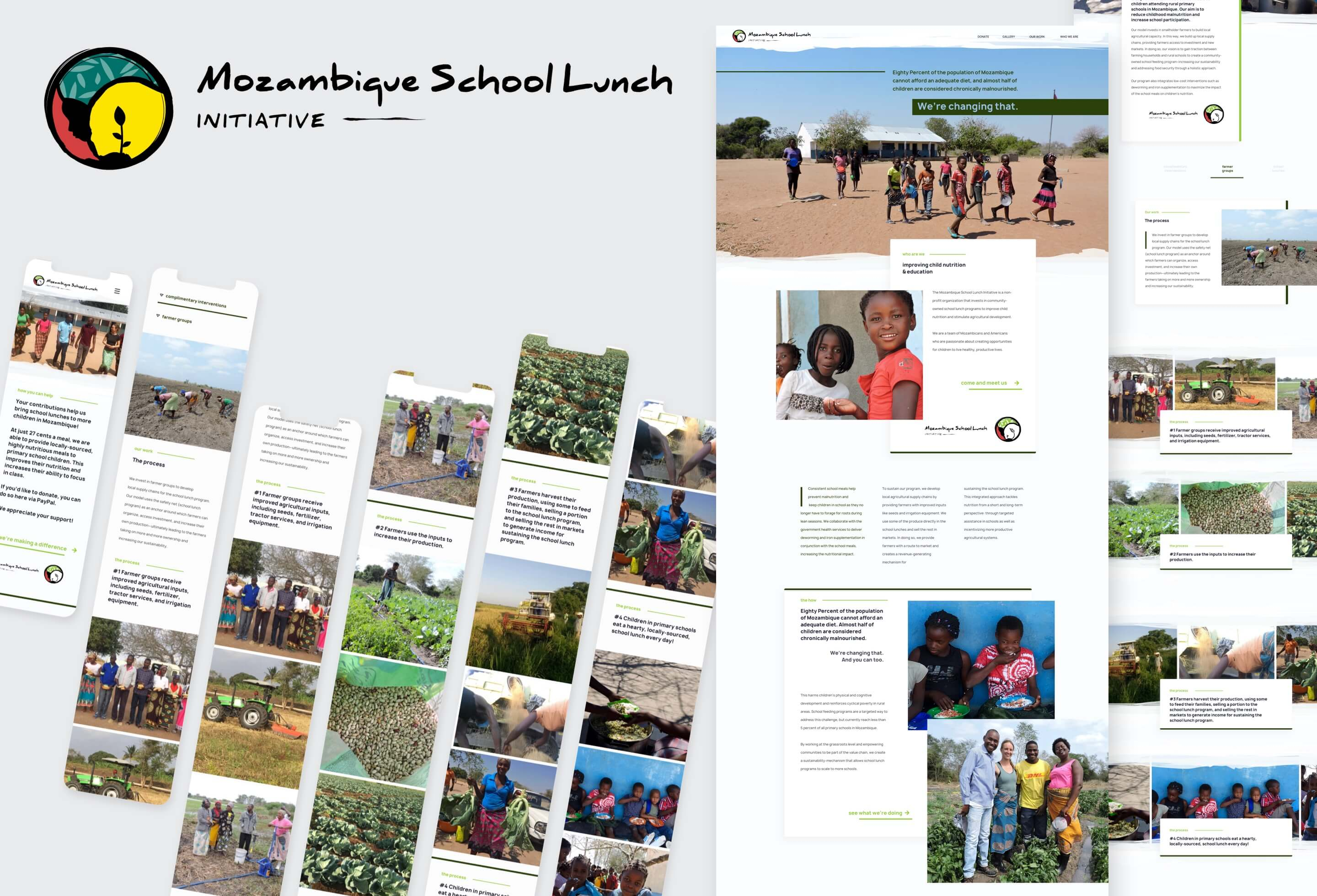 Hero Image of the Mozambique School Lunch Initiative