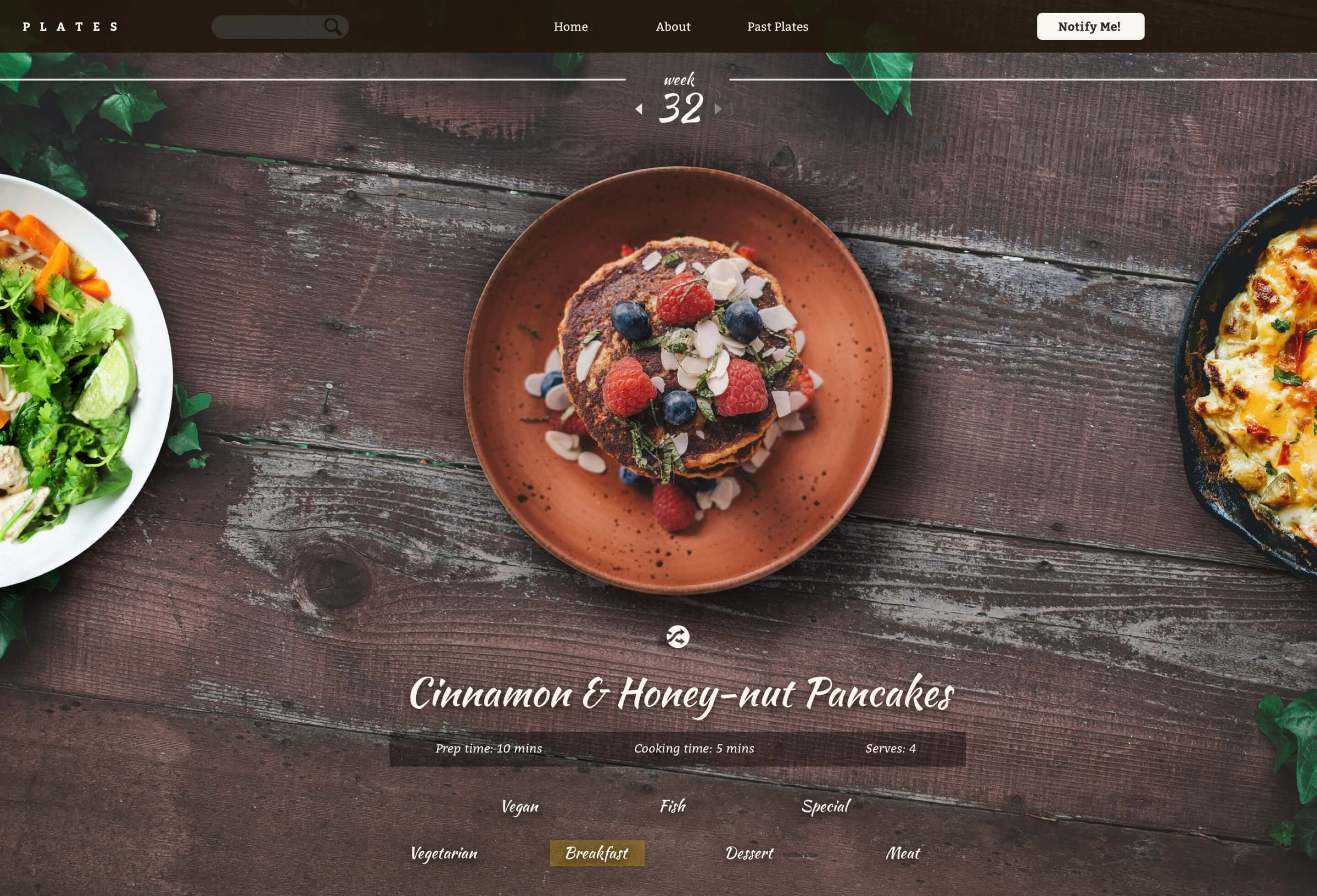 A large view of the homepage as the hero for the case study