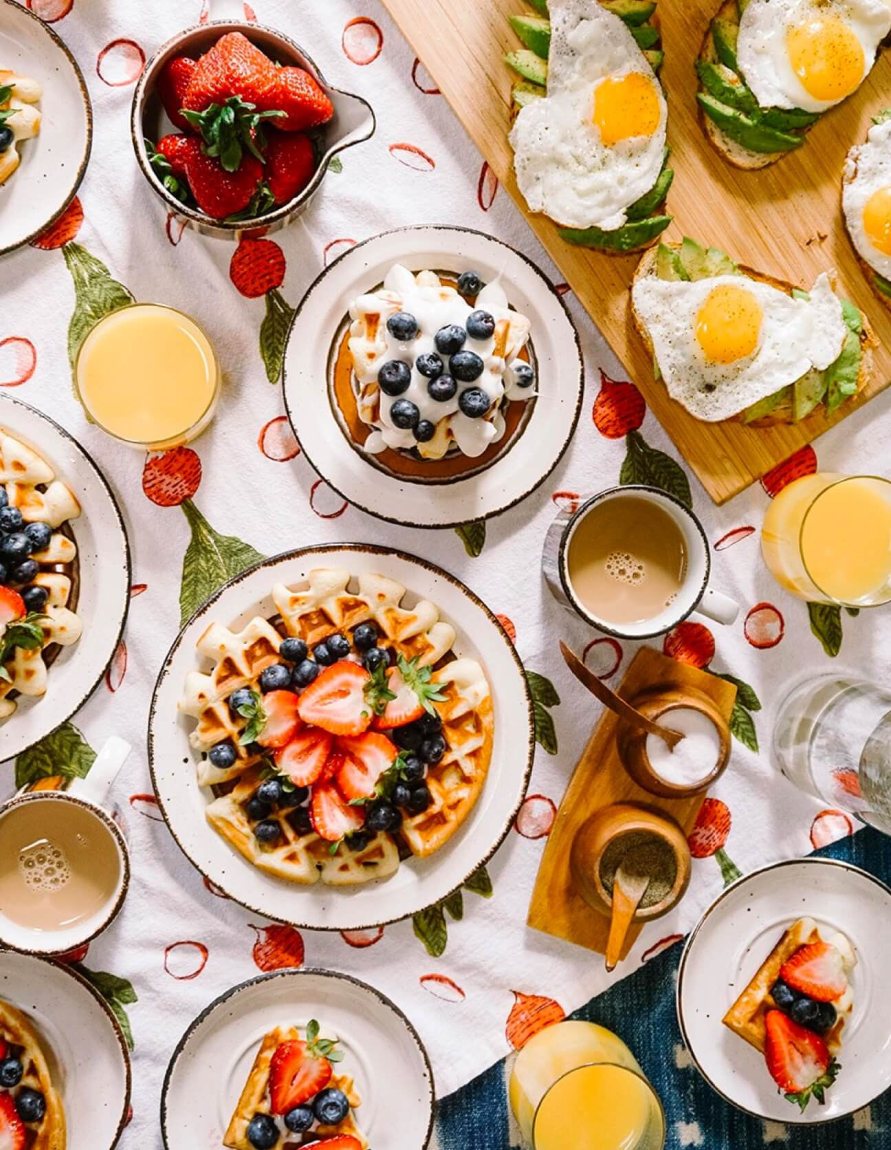 A table of delicious looking breakfast food