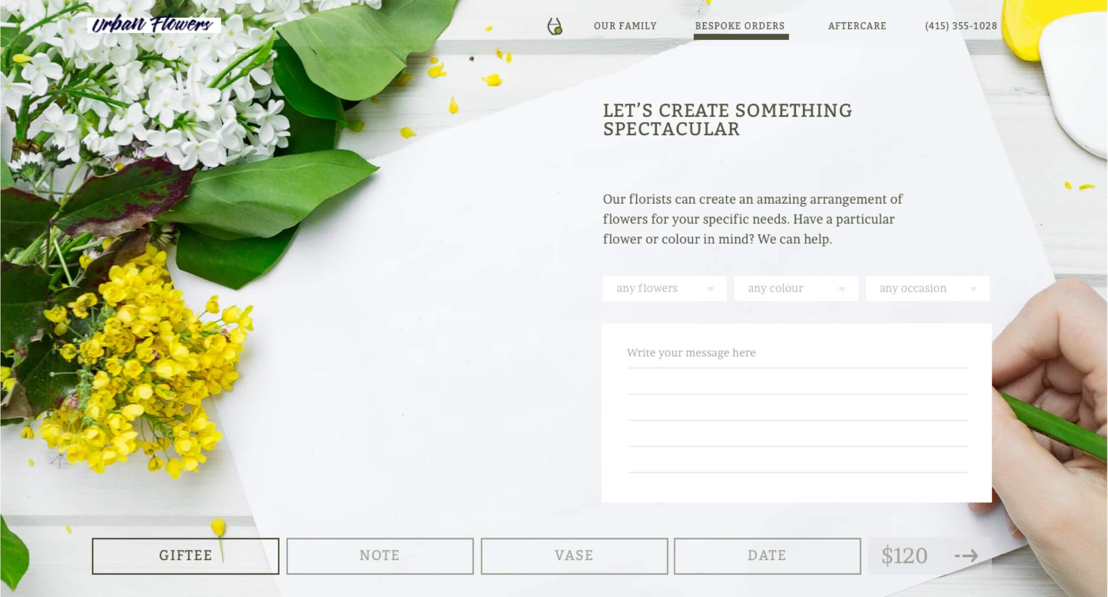 The home page of the redesigned website