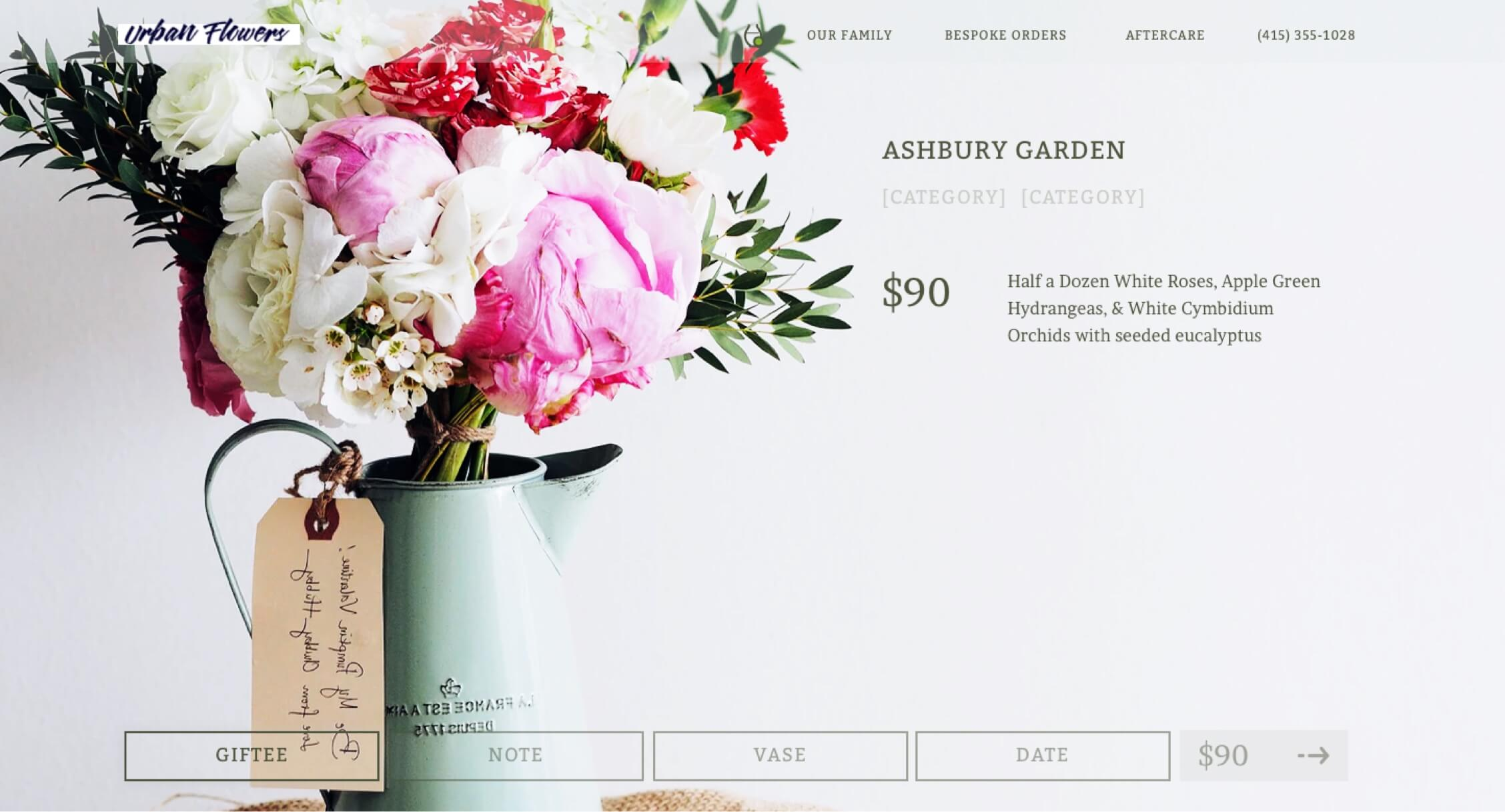 The product page of the redesigned website