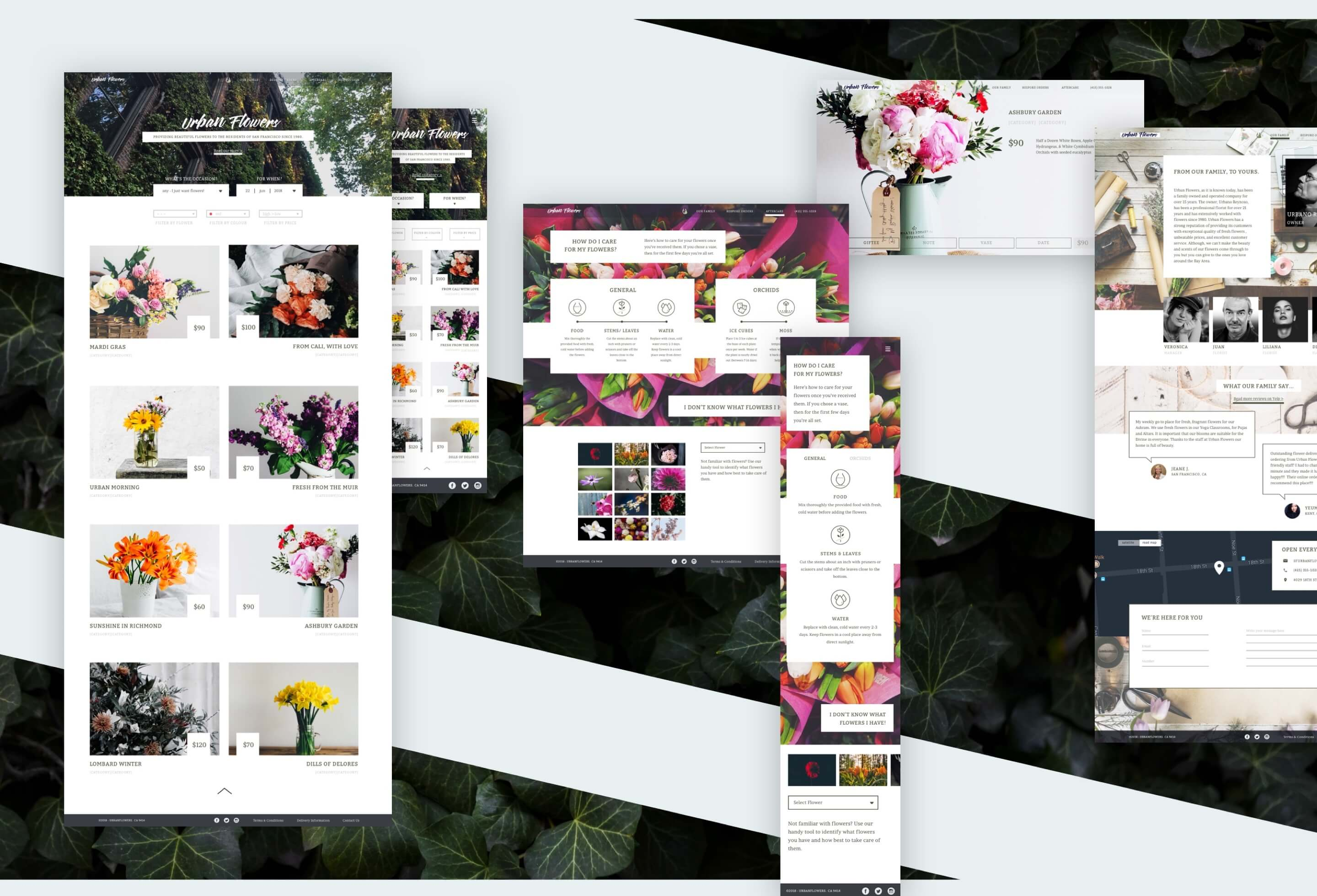 A collection of responsive versions of the design