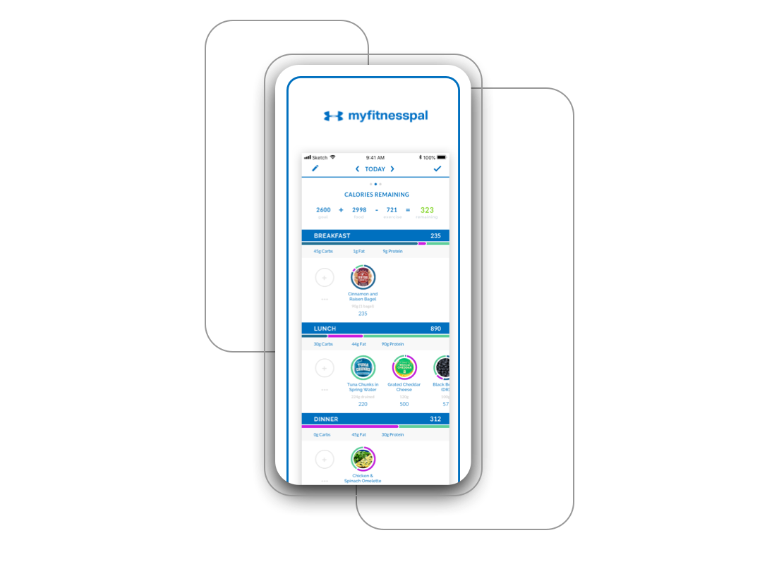MyFitnessPal Redesign Project Preview Image