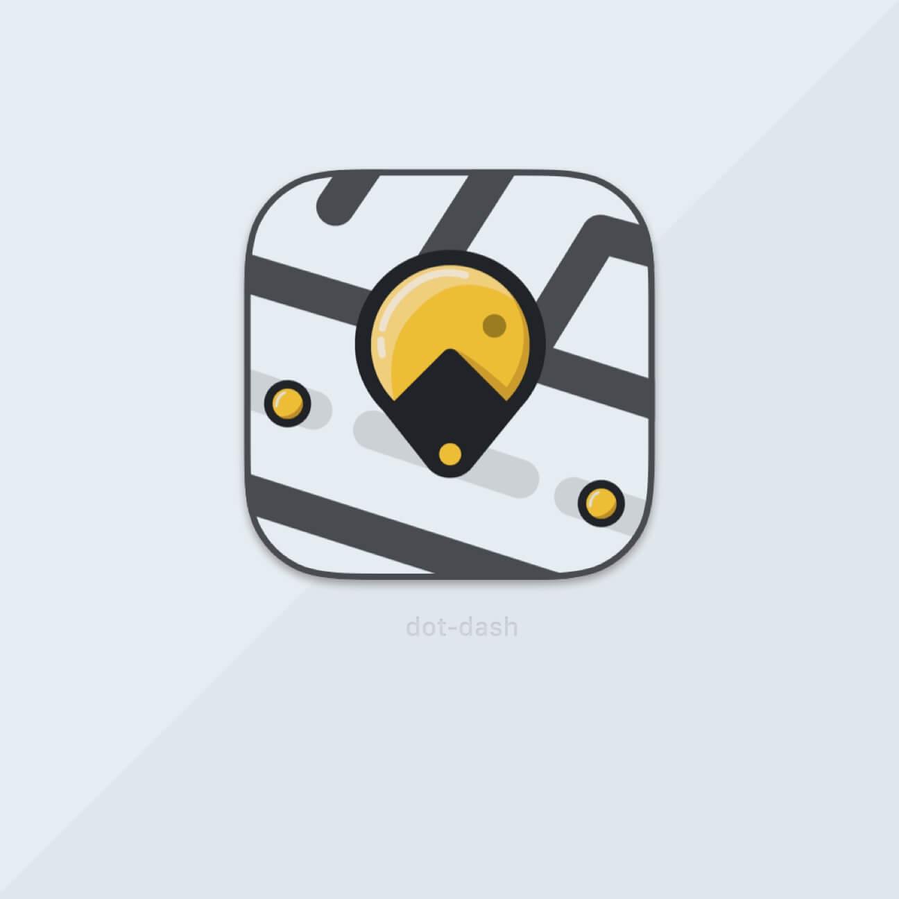 An icon design for an app called Dot-Dash
