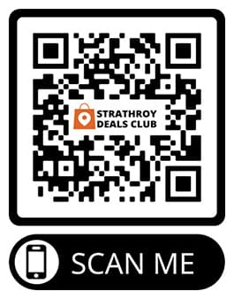 For instant access to all the discounts the Strathroy Deals Club has to offer, locals are encouraged to sign up today by texting STRATHROY to 1-888-477-9153.Or simply by scanning the QR CODE found below: