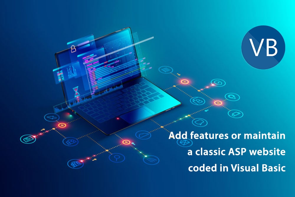 Add features or maintain a classic ASP website coded in Visual Basic