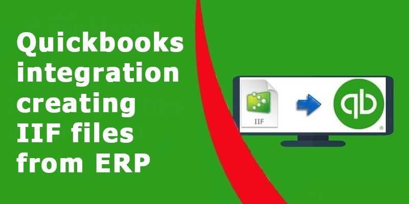 Quickbooks integration creating IIF files from ERP data using .net