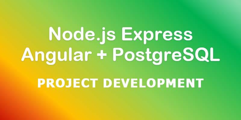 Angular (Angular4) + nodejs (Express) + PostgreSQL Project