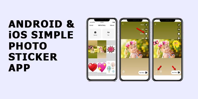 Android & iOS simple photo sticker app