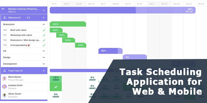Task Scheduling Application - Web and Mobile App Development