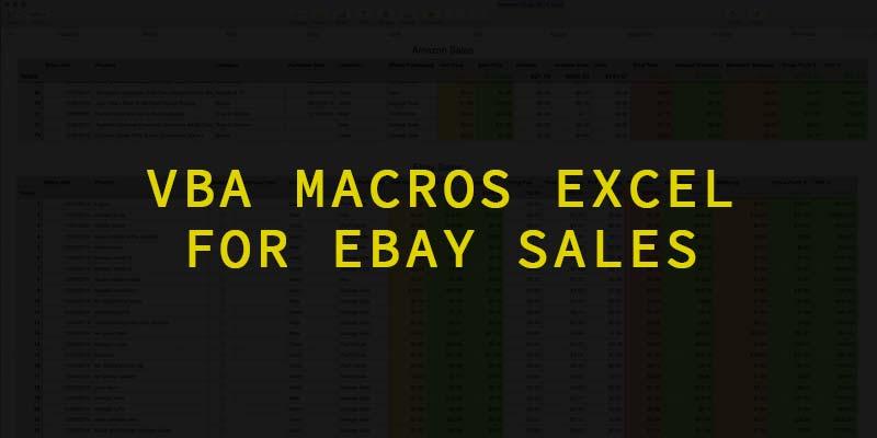 VBA Macros Excel for eBay Sales (Mac 2011 or 2016)