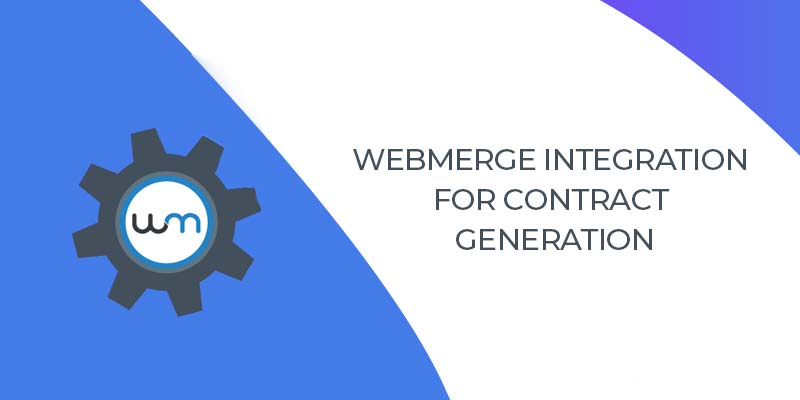 WebMerge Integration for Contract Generation