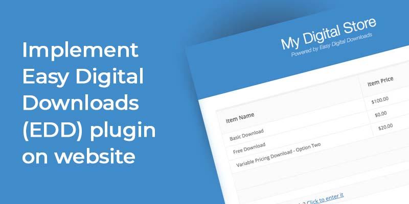 Implement EDD Plugin on Website