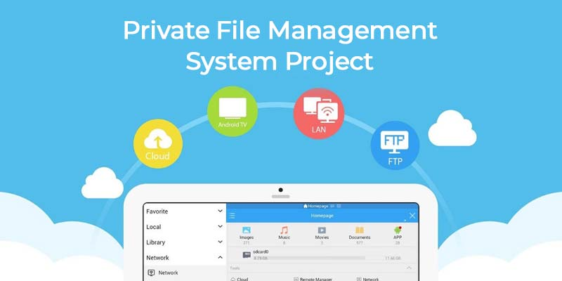 Private File Management System Project