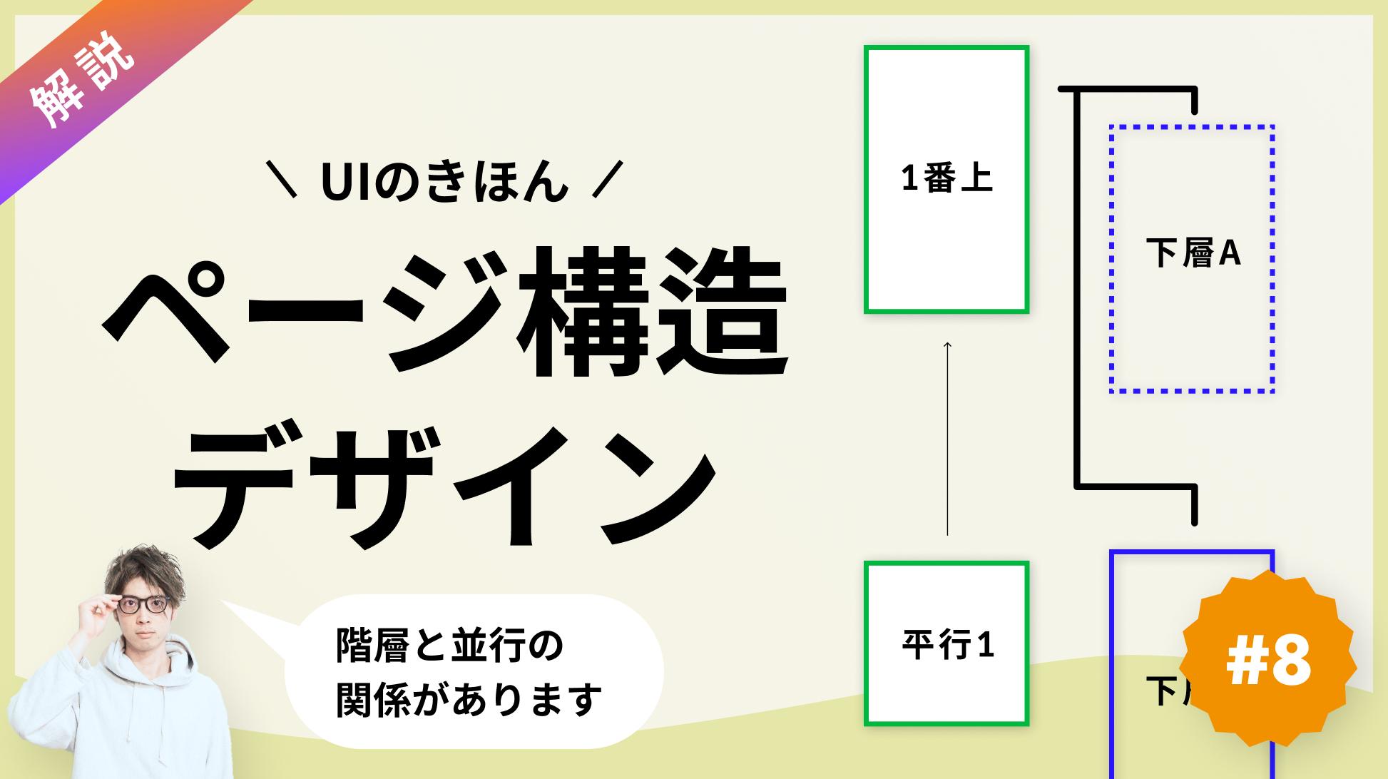 ページ同士の関係性とボトムナビのデザインを解説【ページ間の移動考えたことありますか?】
