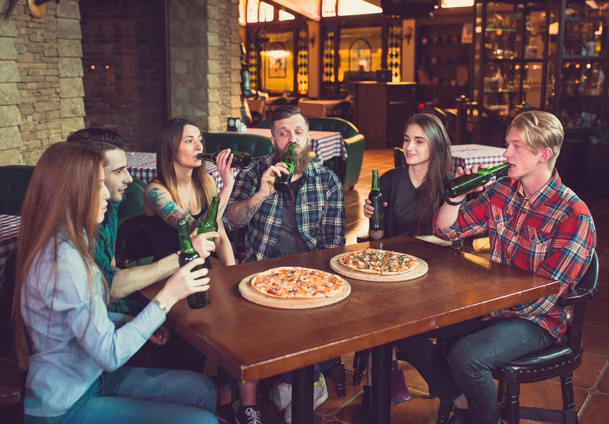 people, table, pizza, beer, top selling beers, wisk, 2019