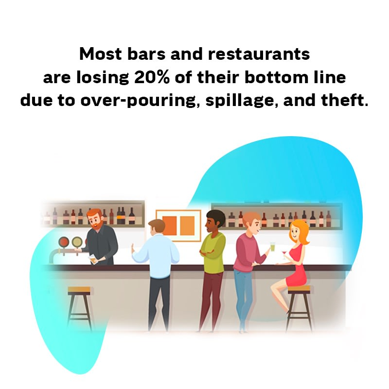 cartoon, people, bar, bar inventory control, infographic, wisk