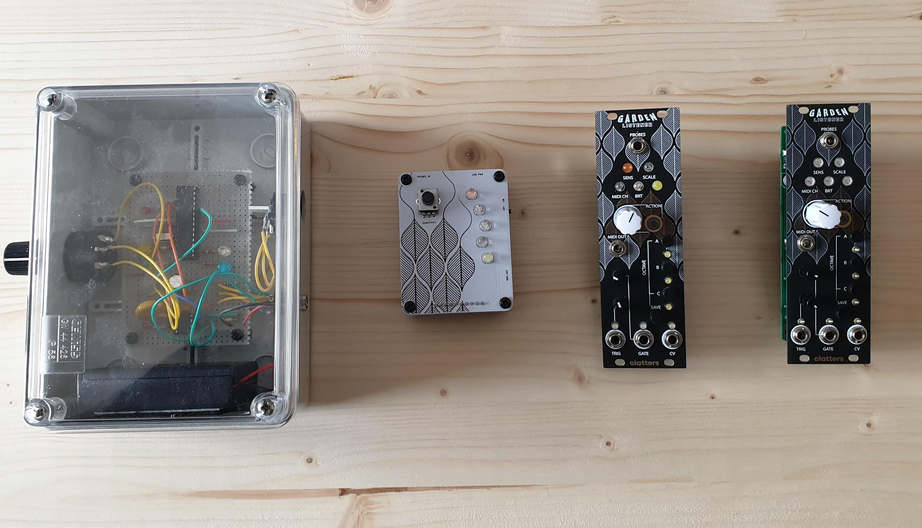 Prototypes // Garden Listener // Clatters Machines