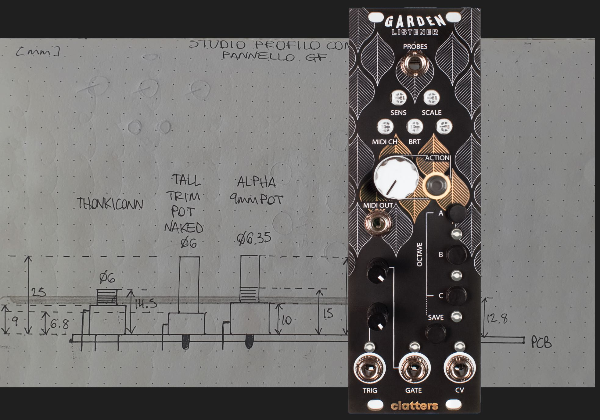 Designing a synth interface with nature in mind.