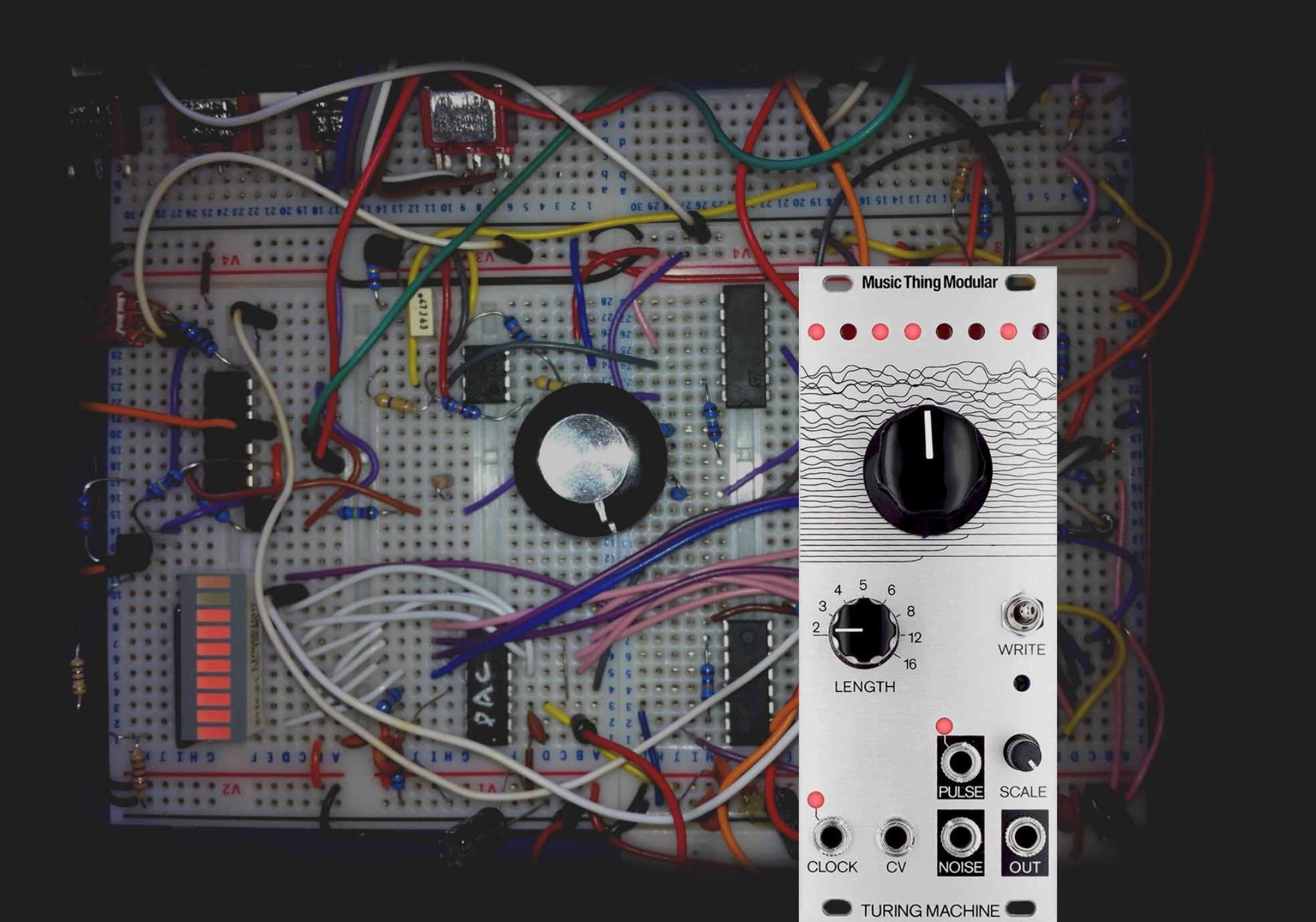 bit by bit, Turing machine - breadboard to eurorack