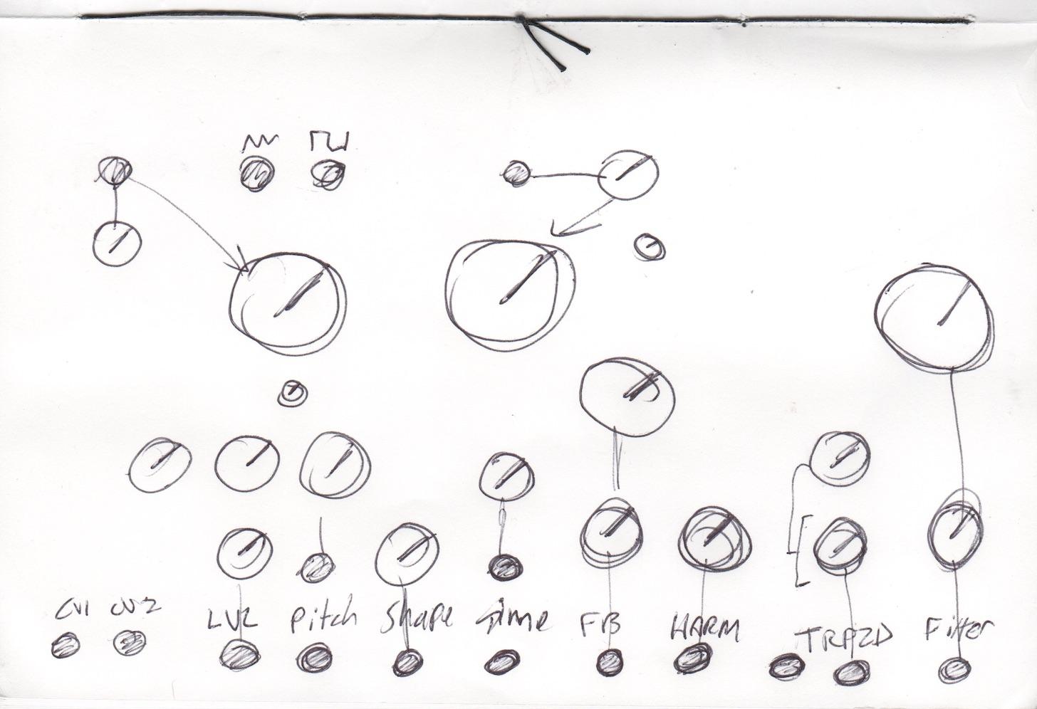 Make Noise // Strega // Tony Rolando // Initial Sketch