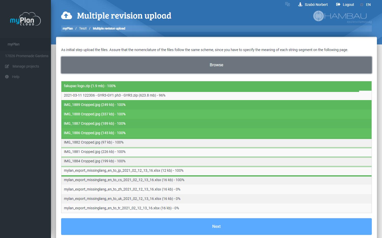 myPlan bulk upload