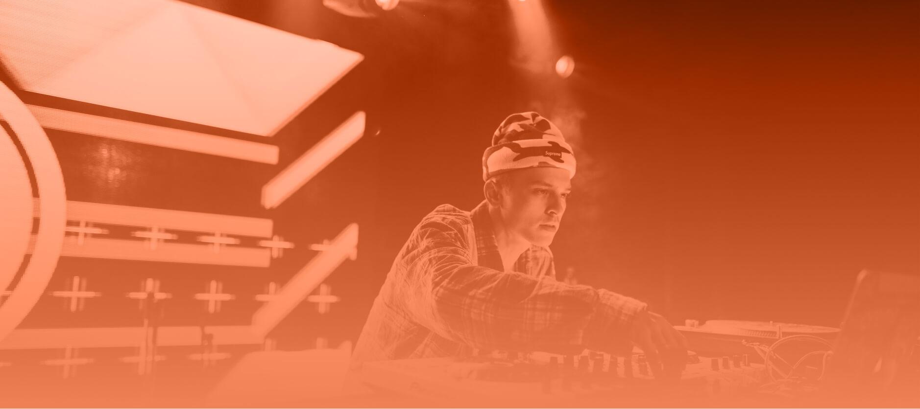 DJ performing a set