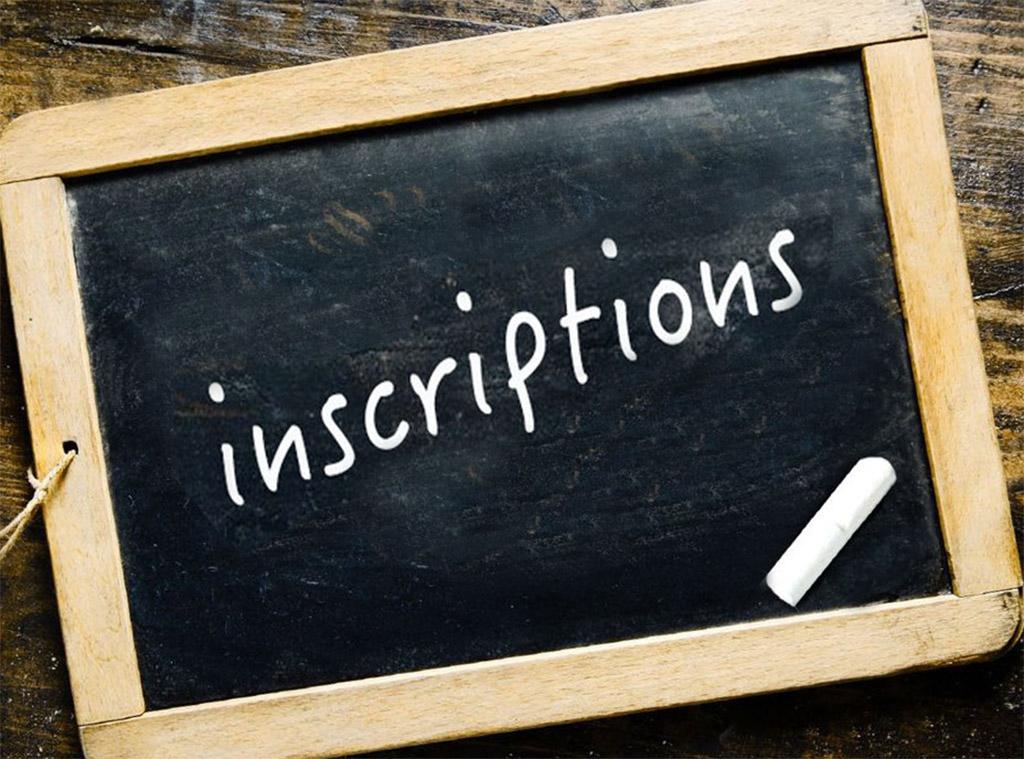 Inscription en 2-3-4-5-6-7 année pour l'année scolaire 2021-2022