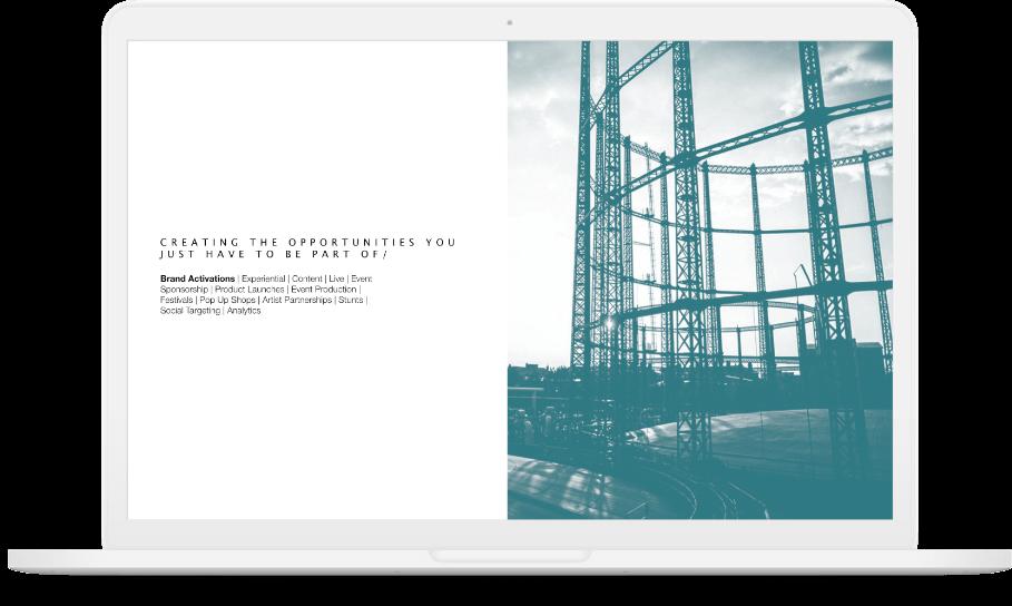 Besixth's 'digital' webpage displayed on a white macbook.