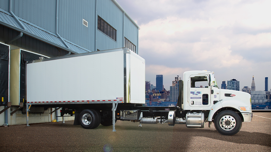 Swap Body truck at a loading dock