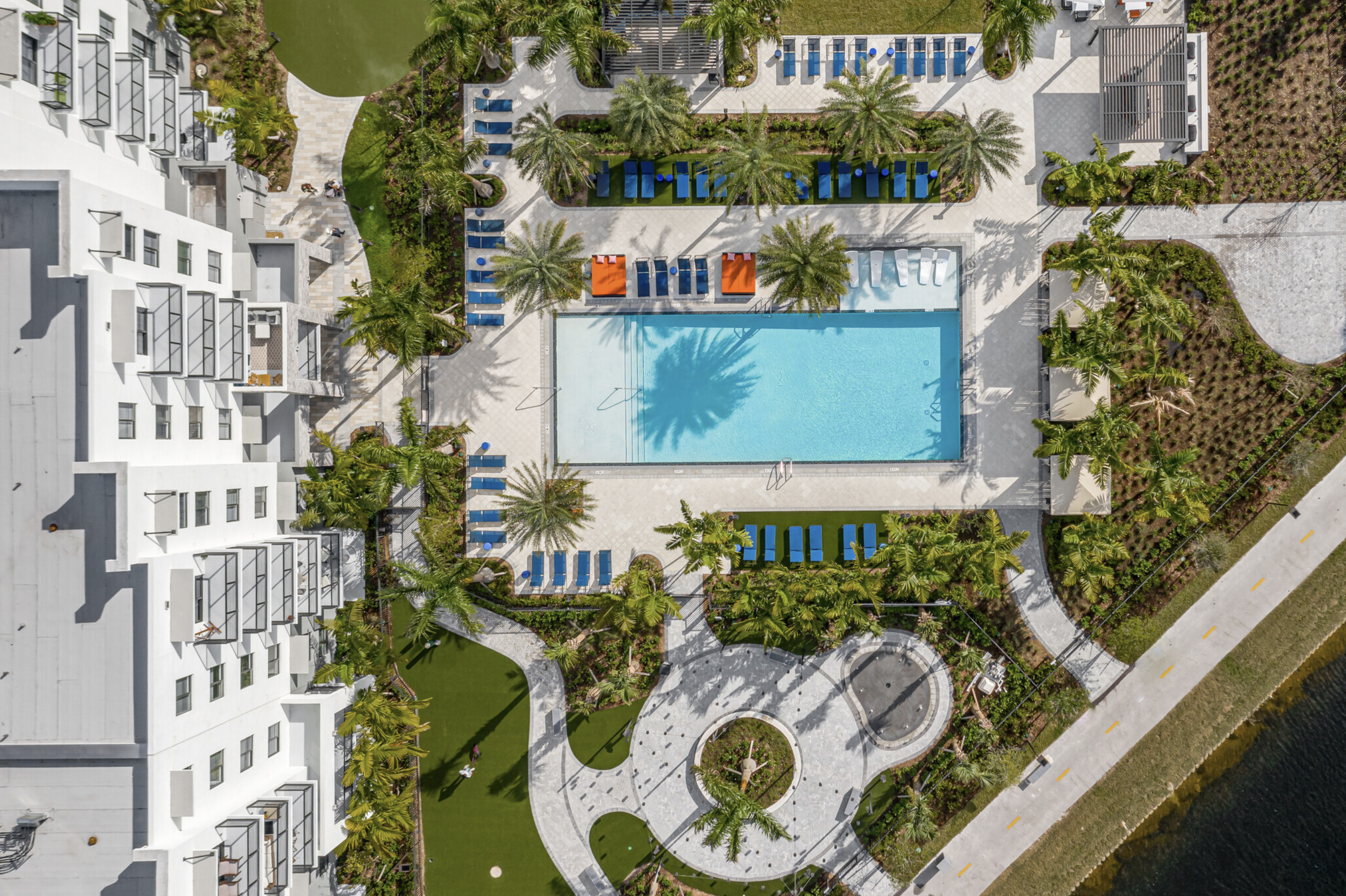 Sky view of Sanctuary doral pool and amenities