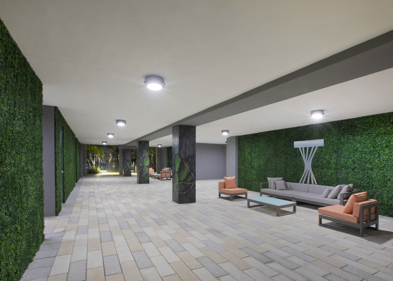 Sanctuary hall and lounge area