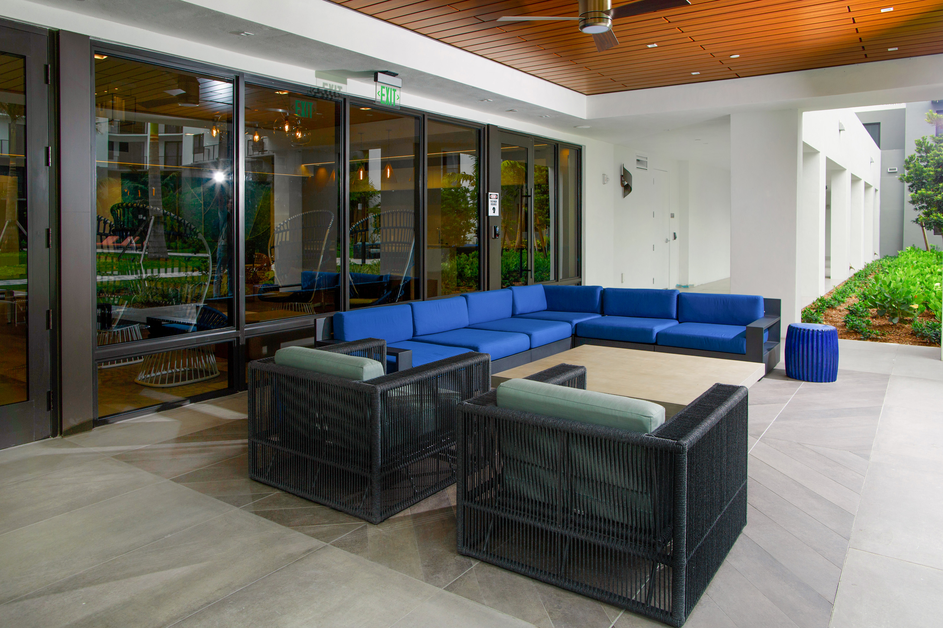 Large lounge outdoor area