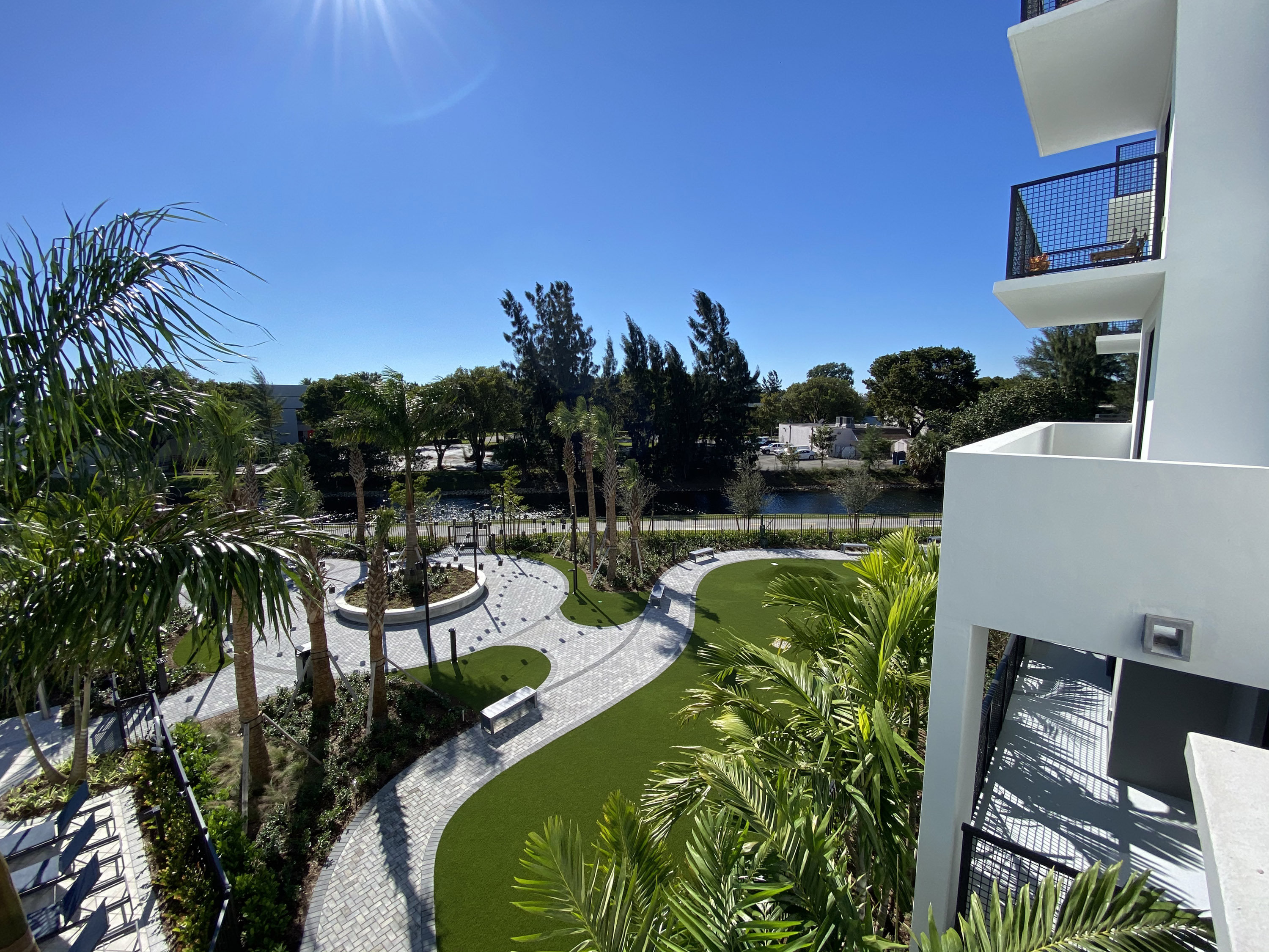 Balcony view to hillocks and Amenities