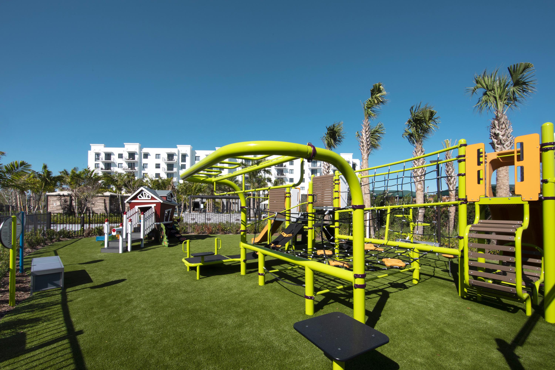 Green playground installation