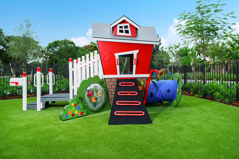 Playground red house