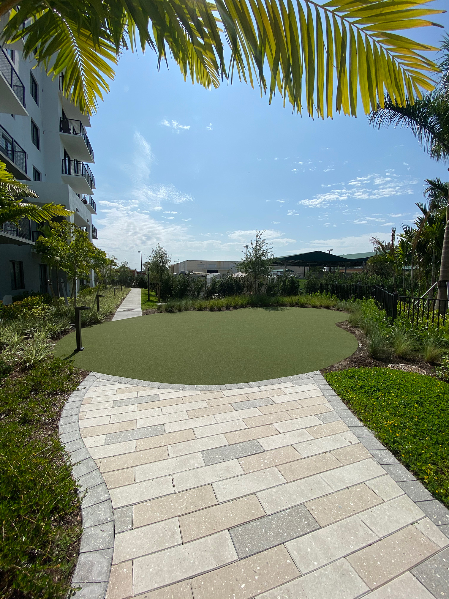 Path to Yoga Lawn at Sanctuary Doral