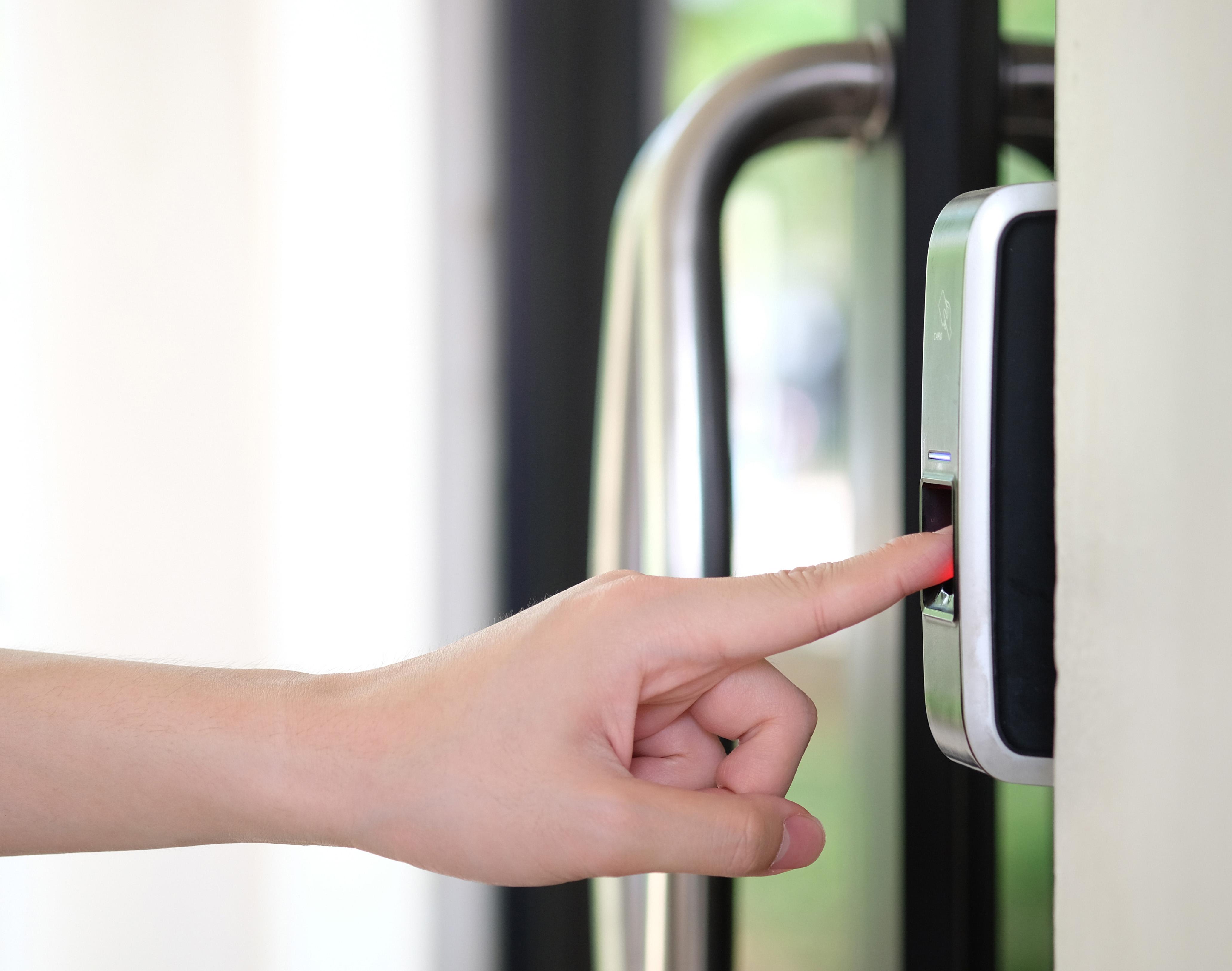 Finger Biometric Security at Sanctuary Doral