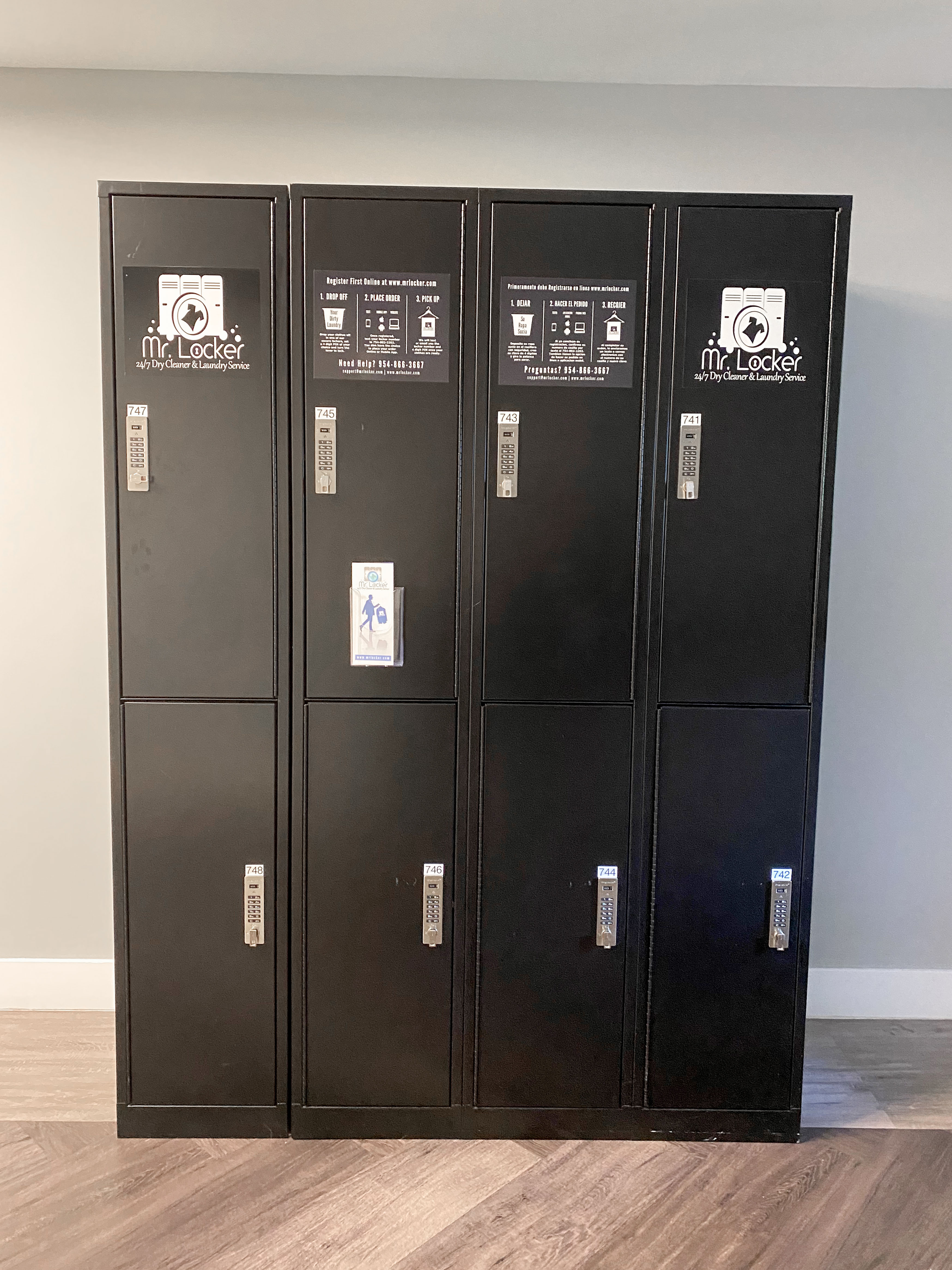 Mr. Locker for dry cleaning services at Sanctuary Doral