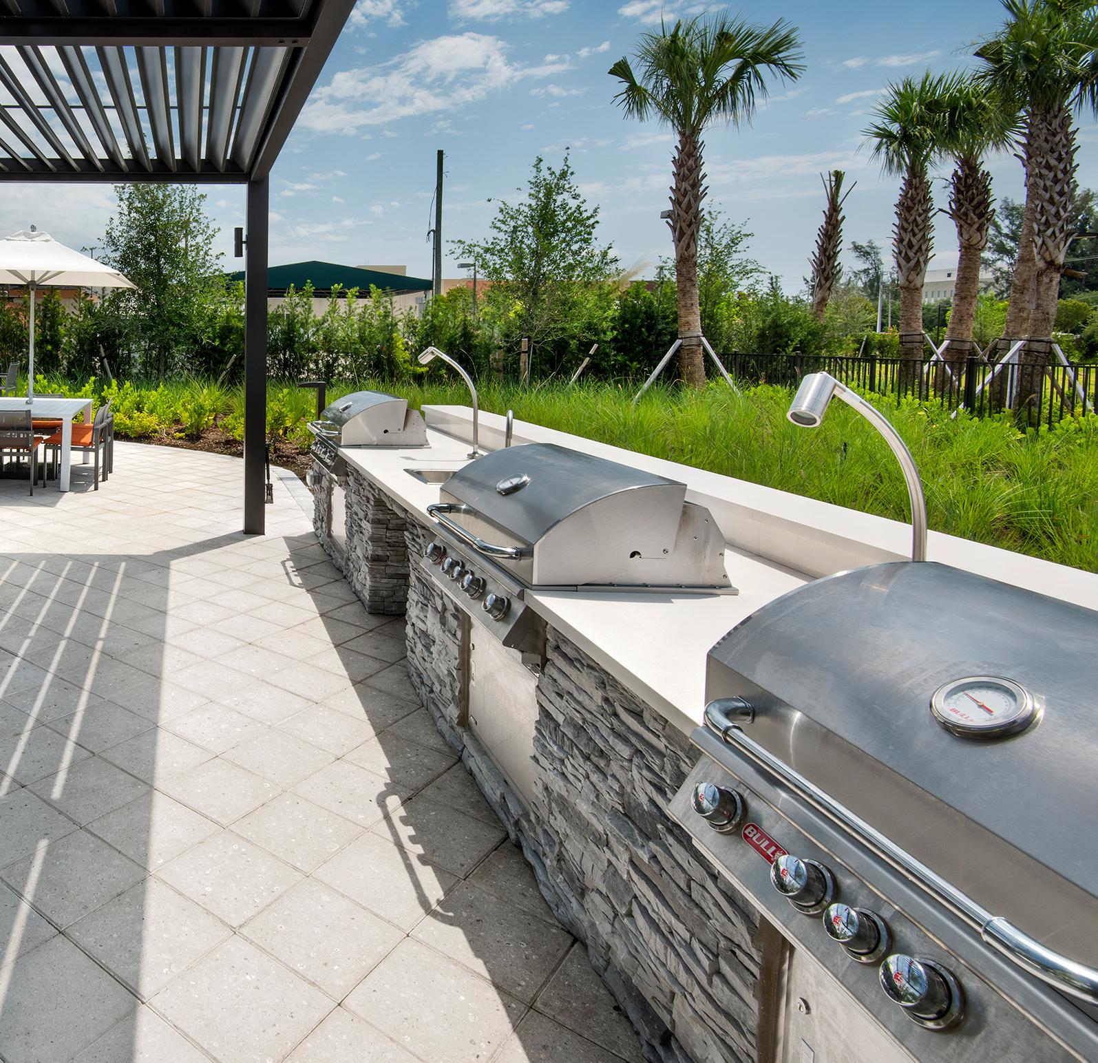 BBQ Grills at Sanctuary Doral