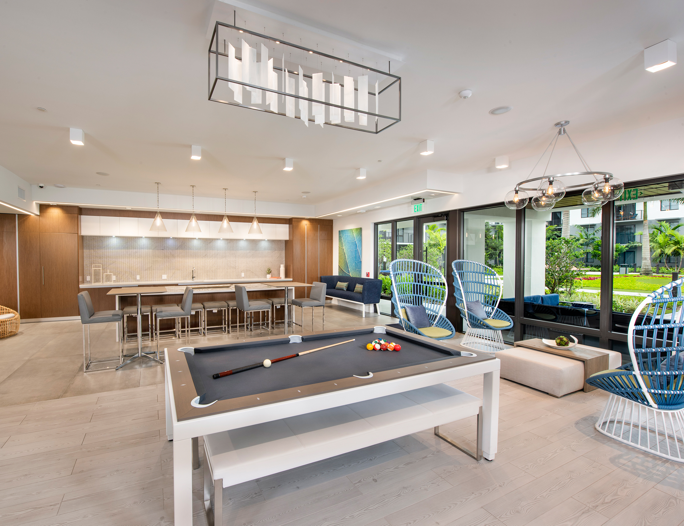 Clubroom Pool Table at Sanctuary Doral