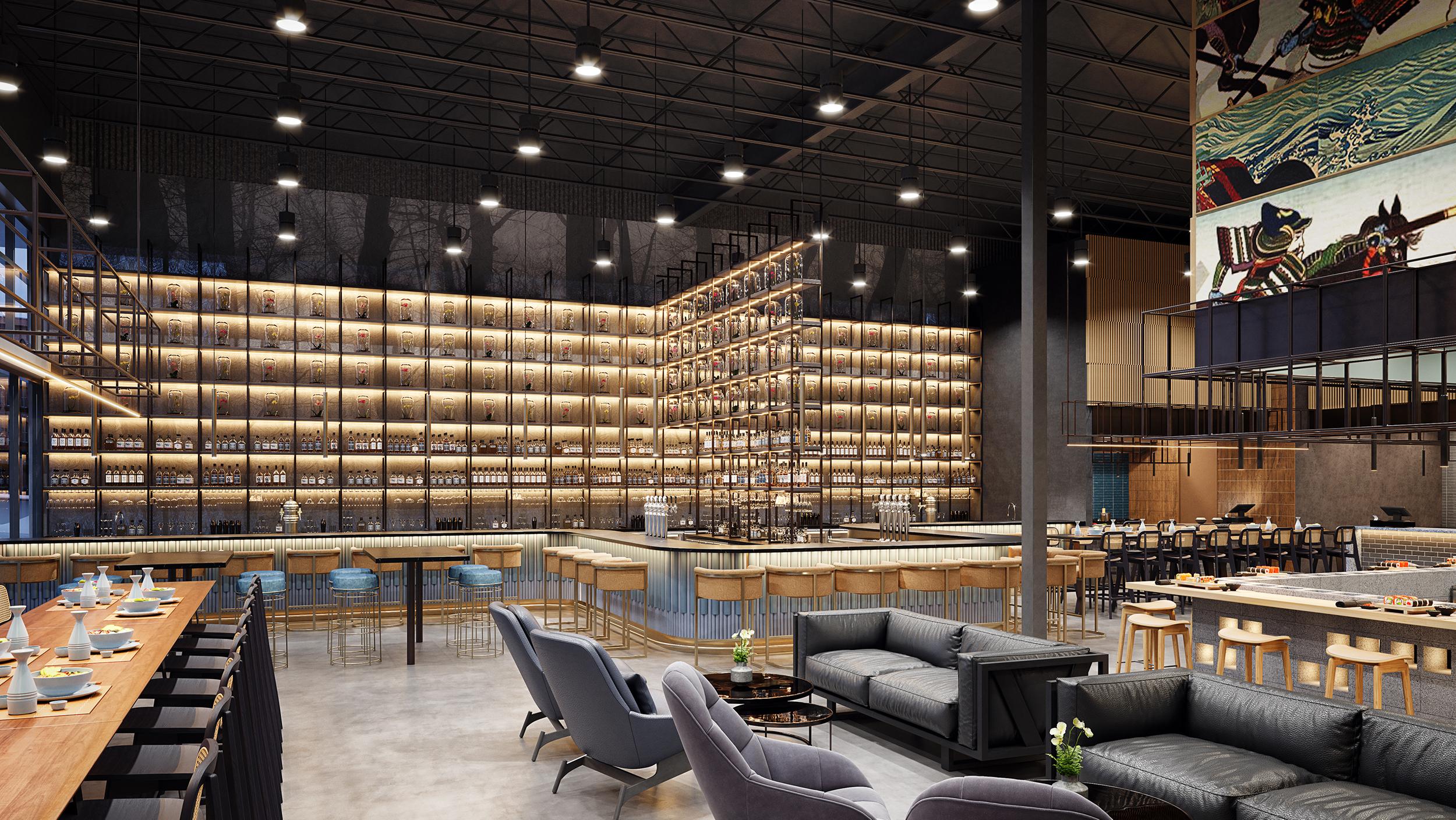 Shoma Bazaar Lounge rendering